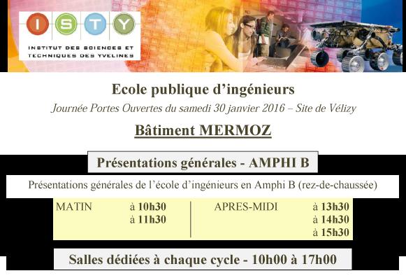 JPO janvier 2016 Programme