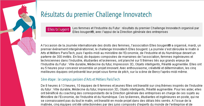 challenge Innovatech - site DGE